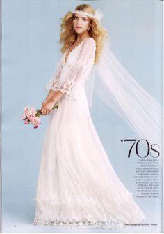 vintage wedding dresses 70's magazines - Google Search