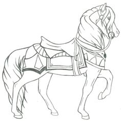 penguin coloring pages for adults Penguin Coloring Pages, Farm Animal Coloring Pages, Colouring Pages, Adult Coloring Pages, Coloring Books, Horse Pattern, Horse Drawings, Carousel Horses, Painting Patterns