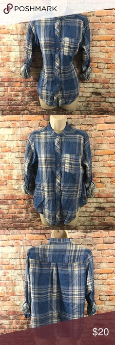 Abercrombie & Fitch Shirt Small Plaid blue tab LS Beautiful Buttons shirt Plaid Western style . See all photos before purchasing and measurements. Inventory 100ape 3/18 Abercrombie & Fitch Tops Button Down Shirts