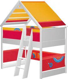 Cama infantil Casa Juegos blanca