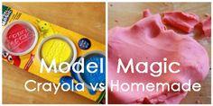 Homemade Model Magic: Crayola vs Homemade
