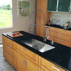 Enhance the look of your kitchen with the VIGO All-in-One Kitchen Sink and Faucet set. This set includes a 32-inch undermount kitchen sink, faucet, soap dispenser, matching bottom grid and sink strainer.