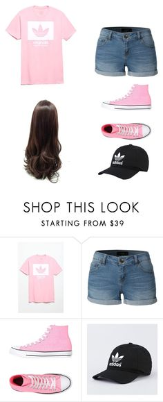 """Adidas 5"" by j-o-h-n-a-t-h-a-n ❤ liked on Polyvore featuring adidas, LE3NO and Converse"