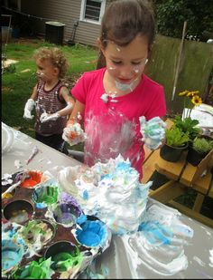 Messy Projects for kids: The Root Children's shaving cream art project