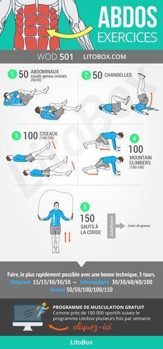 Exercices pour les abdos !