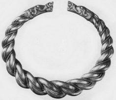 Dragon headed silver armring 9th Century CE, Sweden http://www.odinsvolk.ca/dragon.htm