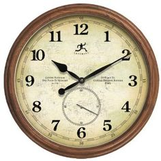 Infinity Instruments The Explorer Wood Wall Clock --- http://udal.us/11e