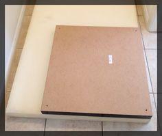 Transformer une table basse IKEA Lack en un pouf. clemaroundthecorner.com tutoriel.