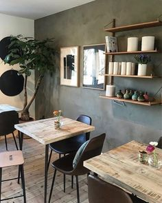 KABE wall decor: KABE Hunter's Forest at Huset Raw in Bergen! Find all our Norwegian retailers on our website 🇳🇴 www.kabecopenhagen.com Bergen, Copenhagen, Wall Decor, Cottage, Living Room, Website, Table, Inspiration, Furniture