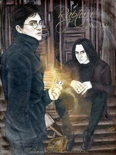 Rapture by AnastasiaMantihora  Is this Harry and Snape?! I love it