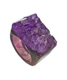 Dara Ettinger Dara Purple All Geode Ring - Max & Chloe ($88.00) - Svpply