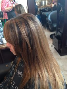 Balyage ombre straight by Leslie