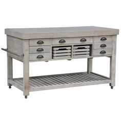 Elegant and useful, this kitchen island will have any foodie heading straight for the kitchen!