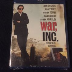 Blu-ray DVD movie Blu-ray DVD movie. War Inc. starring John Cusack, Hilary duff, Marisa Tomel, Joan Cusack and Ben Kingsley. Brand-new still in wrapping Other