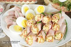 ruloniki z szynki nadziewane pastą jajeczno chrzanową | Domowy Smak Jedzenia .pl Paleo, Keto, Impreza, Tapas, A4, Sushi, Low Carb, Yummy Food, Breakfast