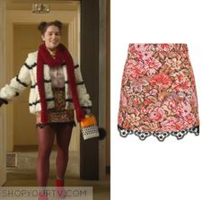 Me Before You: Louisa's Printed Lace Trim Skirt