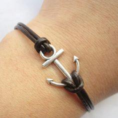 Anchor bracelet. I think I'll make an anchor charm when we start clay in art class :D