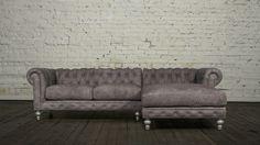 Chesterfield sofa chaise in bosco