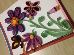 My first quilled card!