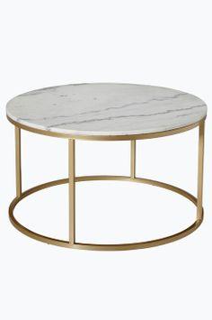 """Ellos Home Sofabord Accent ø 85 cm Rundt sofabord med plate av marmor og stamme av metall. Da marmor er et naturmateriale er det normalt at små avvik i størrelse, farge og struktur forekommer. Ø 85 cm. Høyde 48 cm. Lev. umontert. <br>Fraktvekt 45 kg. <br><br>Les om Fraktvekt under fliken """"Levering"""".<br><br>Vedlikehold av marmor<br> <br>For å gi stenen sin grunnbeskyttelse anbefales marmorpolish som du finner i velassorterte fargehandlere. S..."""