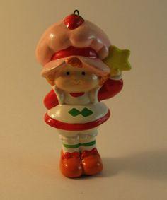 vintage strawberry shortcake ornament 1984 by rivertownvintage