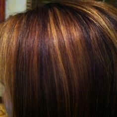 brown with red highlights, blond hair, dark brown hair with lowlights
