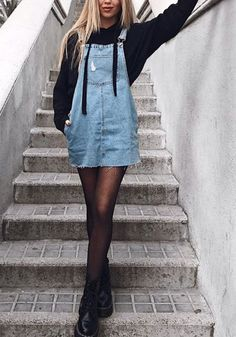 look, fashion, clothes 99 Amazing Winter Outfits Ideas For Teens Mode Outfits, Outfits For Teens, Casual Outfits, Fashion Outfits, School Outfits, Cute Dress Outfits, Autumn Outfits For Teen Girls, Fashion Clothes, Outfits With Overalls