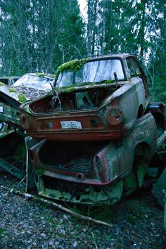 Nature Reclaiming Remote Swedish Junkyard and Bygone Cars - Photography by Christer Lundem