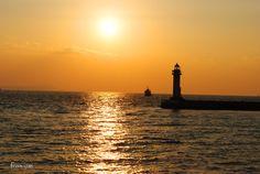 夕焼けの海~