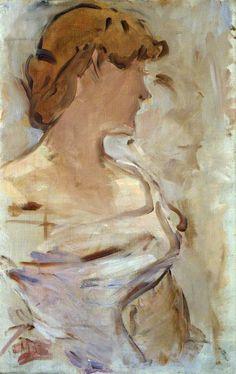 Édouard Manet (1832-1883) - Au Bal, Marguerite de Conflans en Toilette de Bal, 1870-80