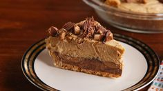 Reese's Peanut Butter Cup Stuffed Pie ~ With a Nutter Butter crust!