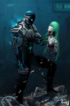Feel Reality Melt Away With The Amazing Art of Adrian Dadich — Today In Awesome Arte Cyberpunk, Cyberpunk 2077, Character Concept, Character Art, Concept Art, Character Design, Space Opera, Arte Robot, Cyberpunk Character