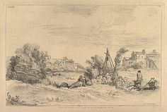 François Boucher | River Bank with Factories in the Background | The Met