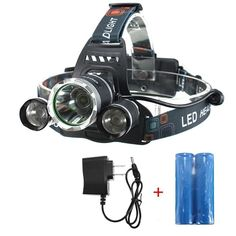 OUTERDO 5000Lumen Led Headlamp 4 Mode Head Lamp Headlight 3 CREE Chips XML T6 2R5 Waterproof Headlamps 2 Pack of 18650 Rechargeable Battery AC Charger For Outdoor Camping Biking Hunting Fishing ** Read more  at the image link.