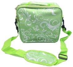 Large Green Paisley Damask Essential Oil Carrying Case -Traveling, Organizing, Bottle