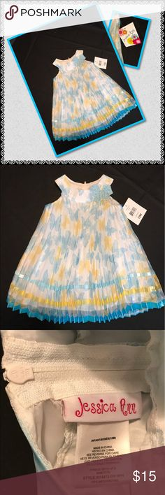Jessica Ann Girls Pleated Fancy Dress Sz 12 Mo NWT This is one cute dressy dress for that little doll.  Size 12 months, this dress is pleated and fully lined with additional petticoat for extra fullness.  NWT Dress only Jessica Ann Dresses Formal