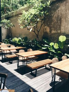 Outdoor seats at Pudak Restaurant