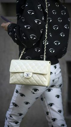The eyes totally have it. Kenzo and Chanel.
