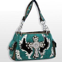 Turquoise Fashion Cross & Wing Purse with Rhinestones Handbags, Bling & More!,http://www.amazon.com/dp/B008GJKASY/ref=cm_sw_r_pi_dp_lHVdsb1M8TMG5TAE