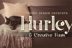 Hurley - Vintage Style Font by JumboDesign on @creativemarket