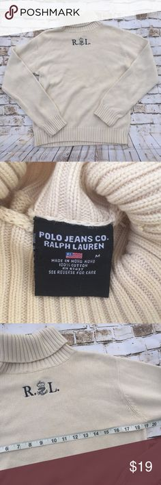 Vtg Ralph Lauren polo jeans turtleneck sweater Excellent condition , measurements in pictures Polo by Ralph Lauren Sweaters Cowl & Turtlenecks