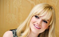 Descargar fondos de pantalla Emma Stone, la sonrisa de 2017, la actriz estadounidense, de Hollywood, rubia