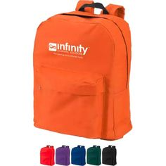Put your brand on something that's sure to please in a variety of settings with the Classic Backpack. This handy promotional tool is made using sturdy 600 denier polyester and features a large zippered compartment, a front zippered pocket, padded adjustable straps and a black hanging handle. Choose your bag color and add your brand in vibrant full color printing and create something that's perfect for tradeshow appearances, academia and beyond.