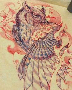 "Loving this new #owl #sketch by the always-awesome @jj_claudio who recently submitted some fantastic work to our upcoming ""Slithers & Scales of Inspiration"" book! Check out JJ's page for loads of rad #tattoos and #artwork -- and stay tuned about the S&S book too. We had an amazing submission turnout and are anxious to get to work and start making selections for the publication. Viva la Creativity! by outofstepbooks"