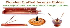 Wooden Crafted Incense Holders and Burners