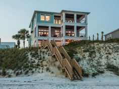 """beach house - """"Painted Sky"""" Luxury Beach Front Home with Private Pool & Jacuzzi! Florida Rentals, Beach Vacation Rentals, Vacations, Beachfront House, Dream Beach Houses, Luxury Penthouse, Beach House Decor, House On The Beach, Villas"""