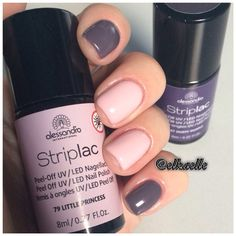 Alessandro Striplac little princess & dusty purple Alessandro Striplac kleine Prinzessin & staubiges Lila See And Say, Dusty Purple, Pale Skin, Uv Led, Nail Polish Colors, Shellac, Little Princess, Nails Inspiration, Beauty Secrets