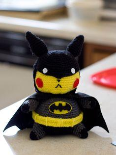 Pikachu Batman Amigurumi Doll by ~Sushumo on deviantART