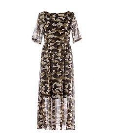 Net Splice Short Sleeves Slim Fit Chiffon Dress