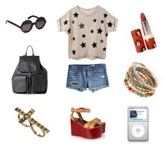 """Liberty style"" by stacyco ❤ liked on Polyvore featuring AG Adriano Goldschmied, Theory, Miss Selfridge, Isabel Marant, Dorothy Perkins, Paul & Joe, round sunglasses, gold ring, denim and sport"